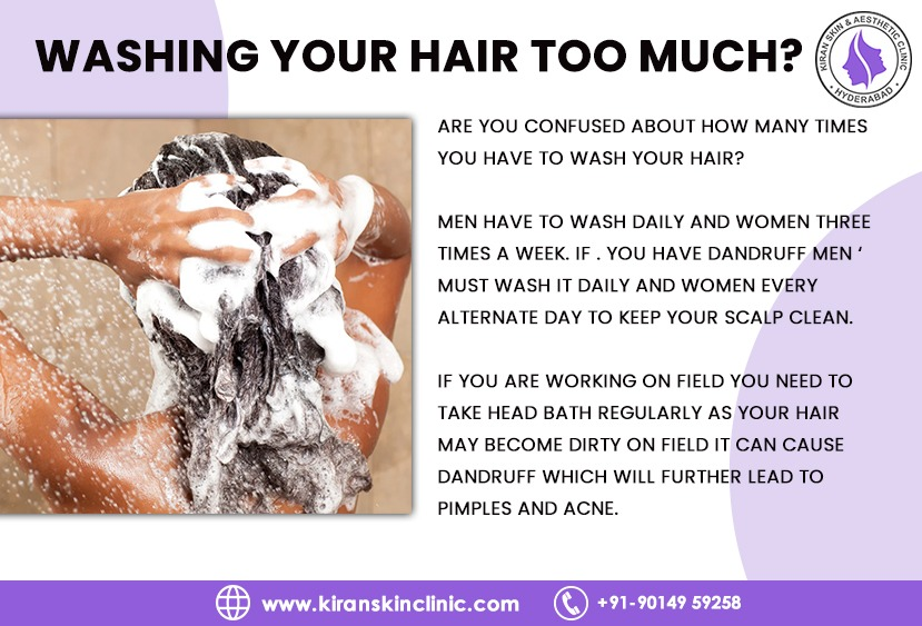 WASHING YOUR HAIR TOO MUCH?