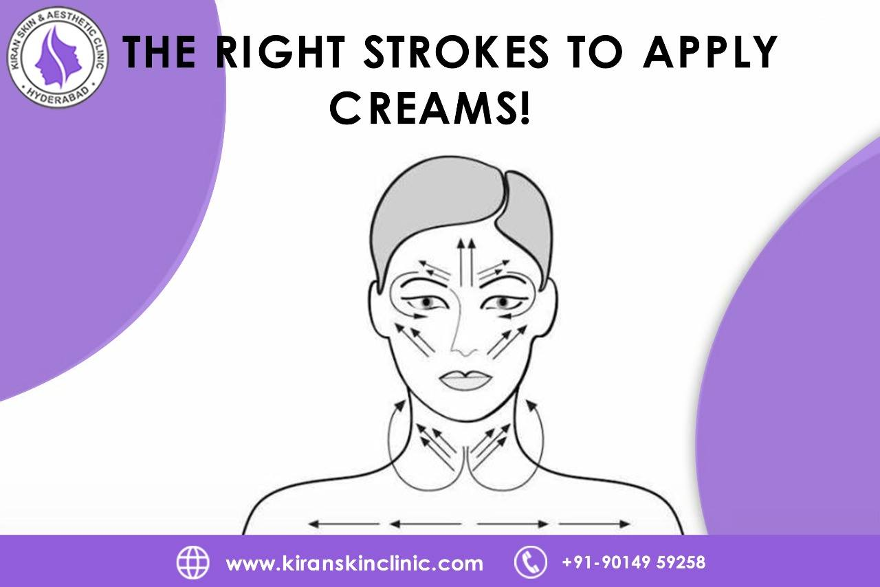 The Right Strokes to Apply Creams!