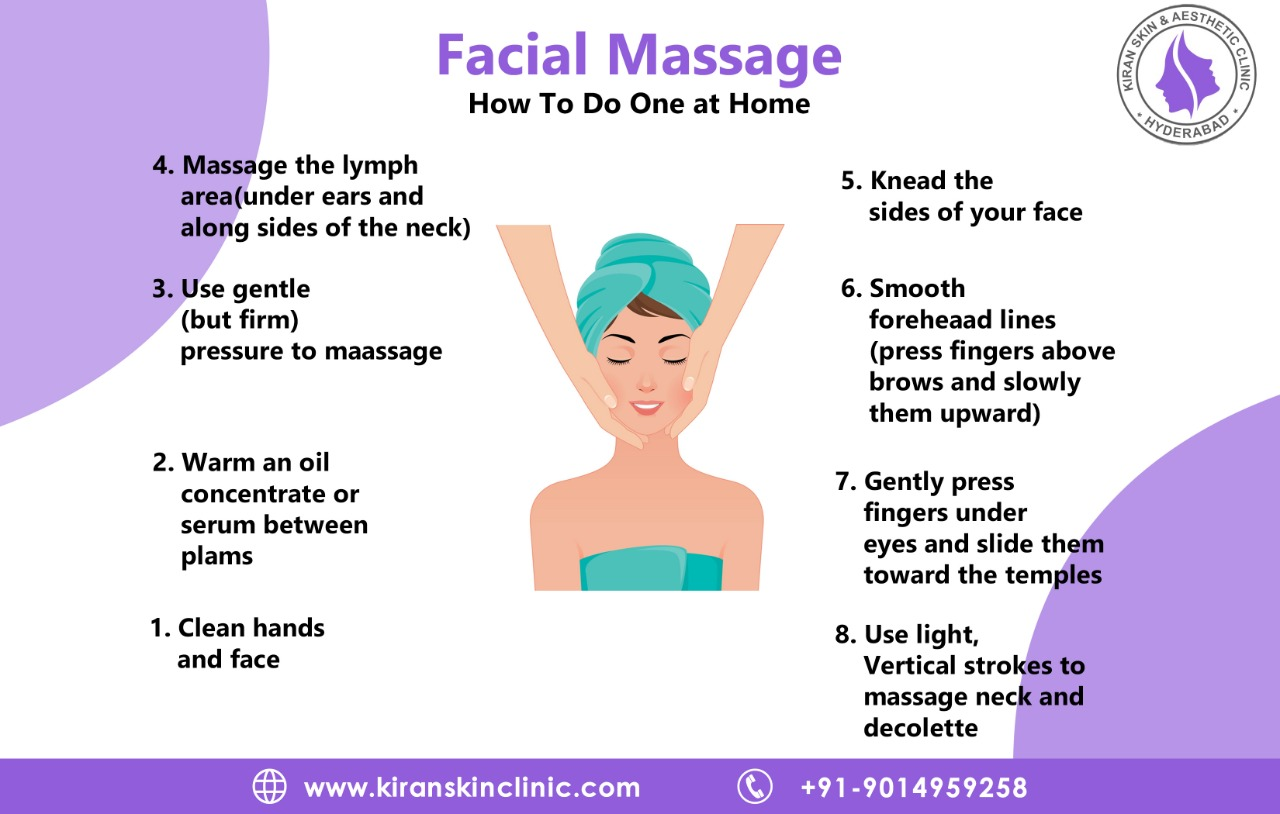How to do FACIAL MASSAGE at home